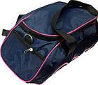 Спортивная сумка синяя с розовыми вставками, фото 2