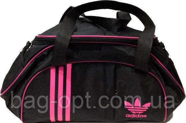Спортивна сумка чорна з рожевими вставками