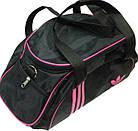 Спортивная сумка черная с розовыми вставками, фото 2