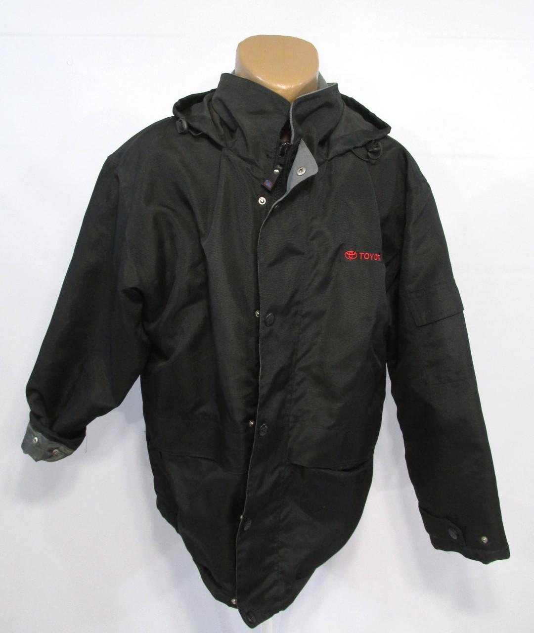 Куртка US Basic, Toyota, демисезонная, непромокаемая, М (размер на L), Черная, Как Новая!