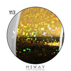 KATTi Фольга переводная NFS 113 holographic золото (битая геометрия прямоугольники) 25см, фото 3