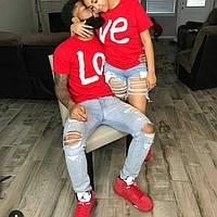 Красивые парные футболки для влюбленной пары Love