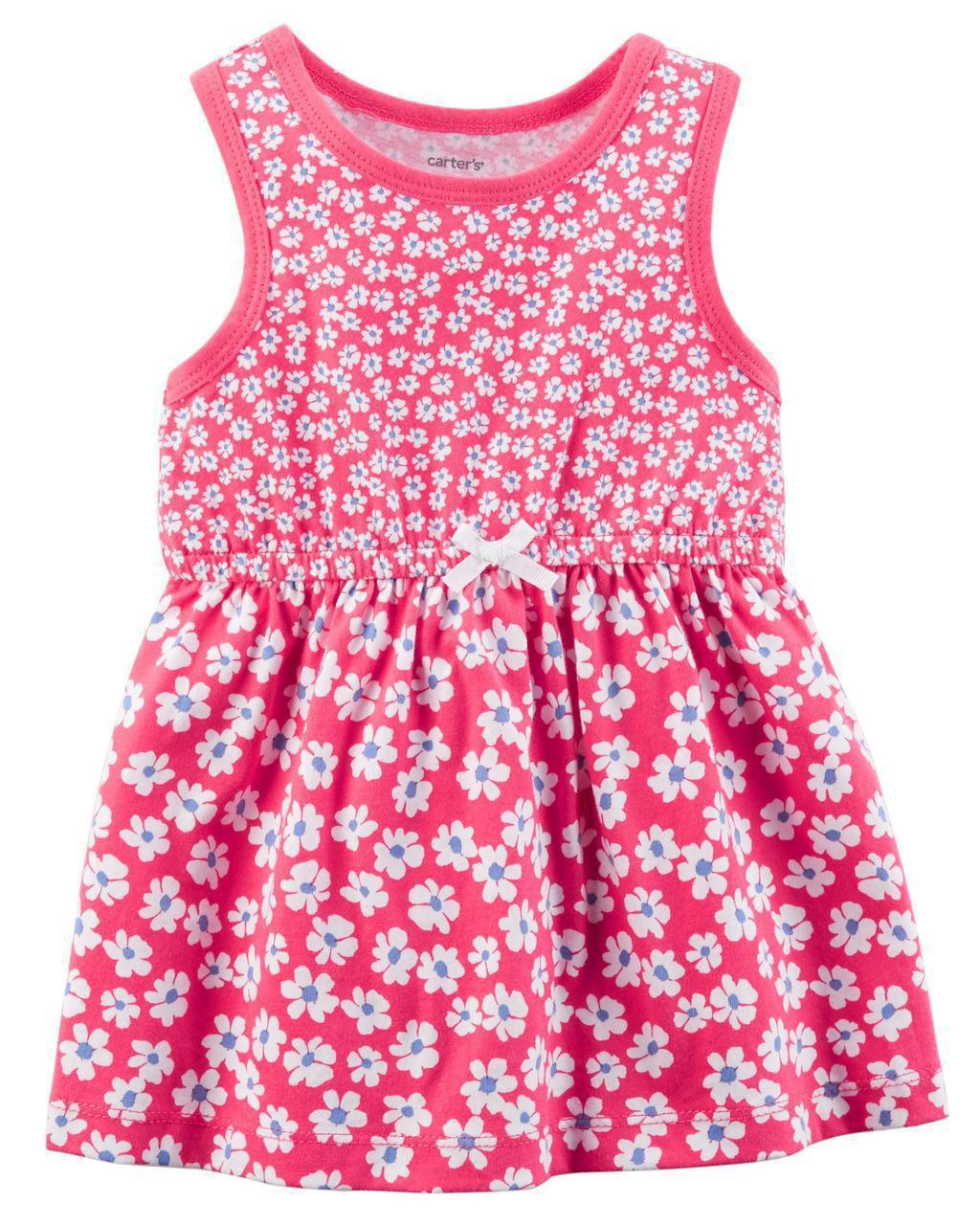 Летнее платье + трусики Carters на новорожденную девочку до 55 см. Комплект 2-ка