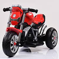 Детский Мотоцикл BMW на аккумуляторе красный (белый, синий, зеленый), свет/звук, USB, MP3, M 3639-3, BAMBI.