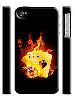 Чехол  для iPhone 4/4s Poker / Покер