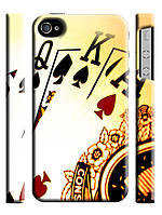 Чехол  для iPhone 4/4s Poker / Покер карты колода