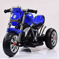 Детский Мотоцикл BMW на аккумуляторе синий (белый, синий, красный), свет/звук, USB, MP3, M 3639-4, BAMBI.