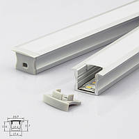 Профиль для светодиодной ленты YF103 (2м) с рассеивателем, анодированный
