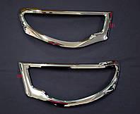 Накладки на передние фары Mitsubishi L200 2005-2010 007617H