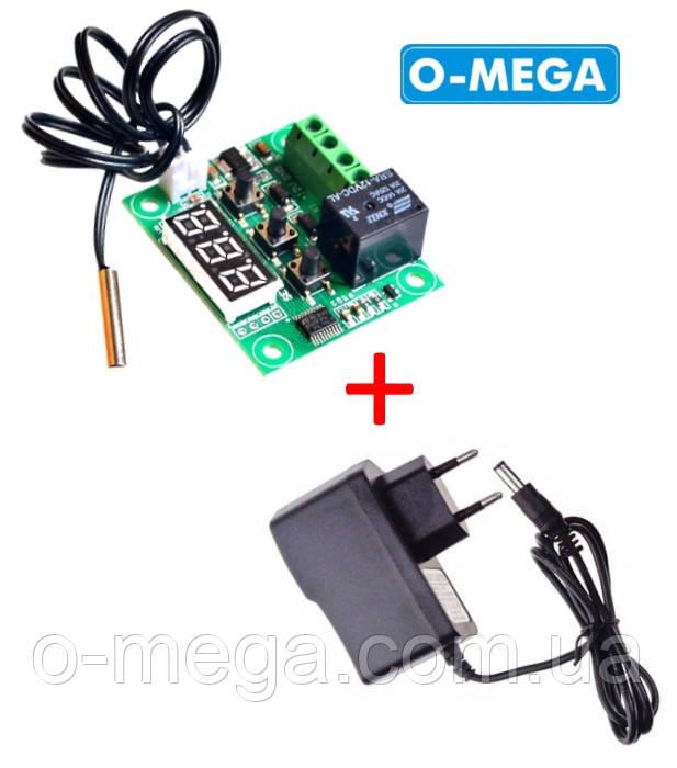 Терморегулятор цифровой W1209 бескорпусной 12В (-50...+110) с блоком питания 12V 1A