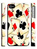 Чехол  для iPhone 4/4s Poker / Покер карты