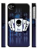Чехол  для iPhone 4/4s Poker / Покер карты череп
