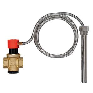 """Защитный термостатический клапан перегрева Afriso TAS 3/4"""", датчик 1/2"""" 95°C, щуп 146мм, капилляр 1300мм, фото 2"""