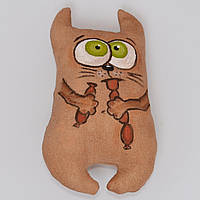 """Мягкая игрушка """"Кот обжора"""". Прикольный подарок. Ручная работа. Кофейная игрушка"""