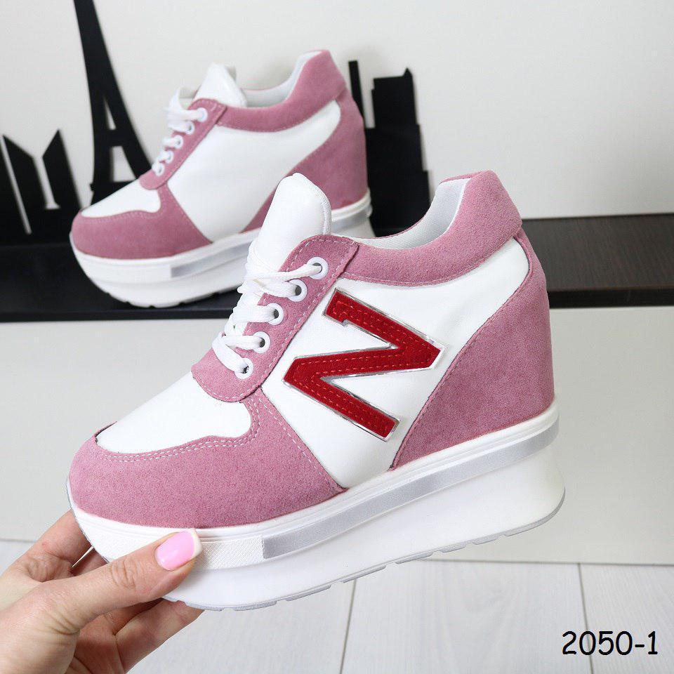 Кроссовки женские на платформе розовые 2050-1, цена 539 грн., купить ... af5c6242a7c