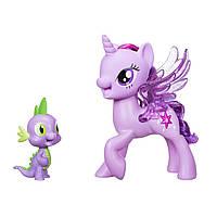 Дуэт поющие вместе пони Твайлайт и Спайк, My Little Pony Twilight Spike Duet, Hasbro Оригинал из США, фото 1