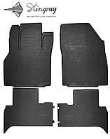 Renault Scenic III 2009- Комплект из 4-х ковриков Черный в салон
