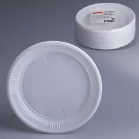 Одноразовая пластиковая тарелка диаметром 172 мм