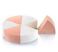 Спонж для лица треугольный секторный YRE 6 шт