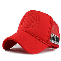 Кепка тракер Логотип с сеточкой Красная, Унисек