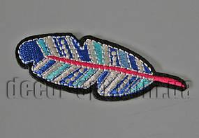 Термонаклейка вышивка Перо 7,5см F12