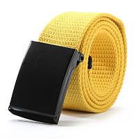 Ремень текстильный на пояс Желтый, Унисекс