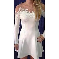 Женское ажурное короткое платье, фото 1
