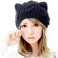 Женская шапка кошка, фото 1
