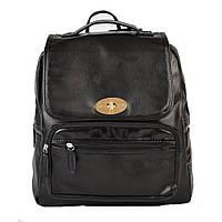 Женский портфель рюкзак черный экокожа