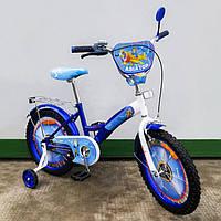 Детский Велосипед Tilly Авиатор 18 дюймов T-218210 blue + white KK