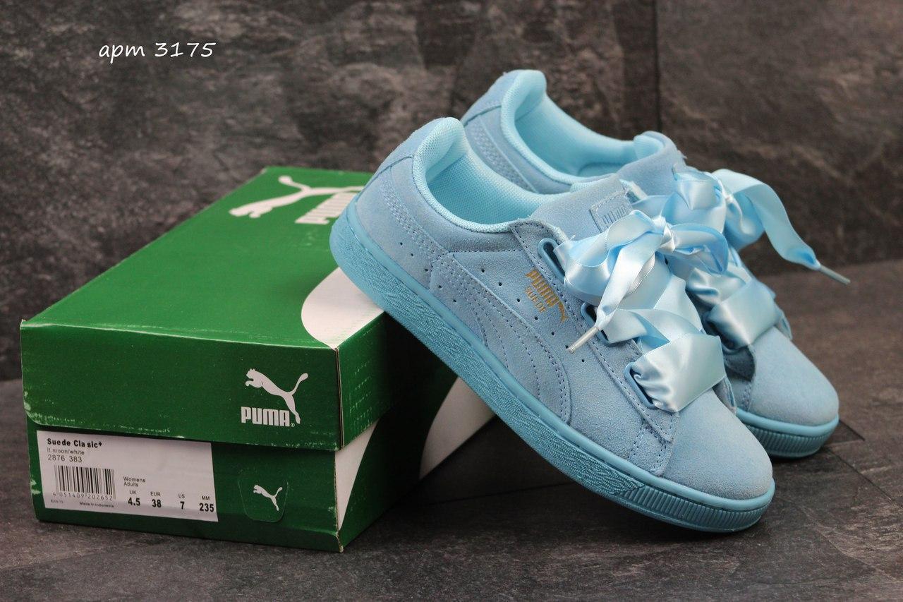 0519fbf565f4 Женские кроссовки Puma Suede Bow мятные 3175, цена 762,11 грн ...