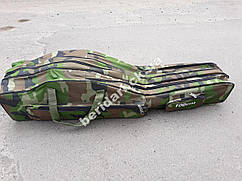 Большой вместительный чехол для удилищ weida 1m  на 3 секции +2 боковых кармана