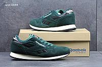 Мужские кроссовки Reebok Classic темно зеленые 2838