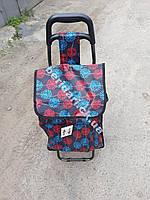 Сумка- тачка на колесах (большая) салют   53х36х21 см