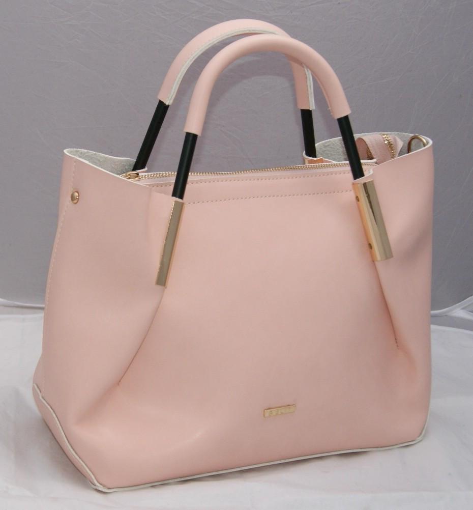 ae44dc8d766f Светло-розовая женская сумка B.Elit с отстёгивающейся косметичкой -  Интернет-магазин