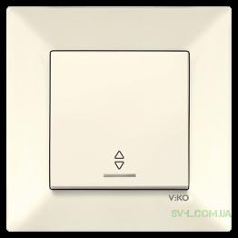 Выключатель одноклавишный  проходной с подсветкой Viko Meridian (крем)
