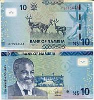 Namibia Намибия - 10 DOLLARS 2015 UNC