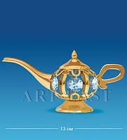 Настольная фигурка с кристаллами Сваровски Лампа Алладина 13 см AR-3964