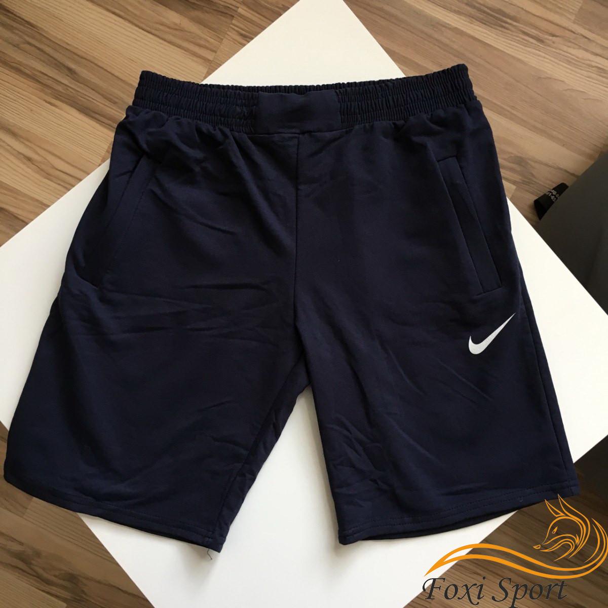 8130be8d Мужские спортивные шорты Nike (тёмно-синие) Реплика - Foxi Sport - Магазин  для