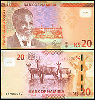 Namibia Намибия - 20 Dollars 2015 UNC