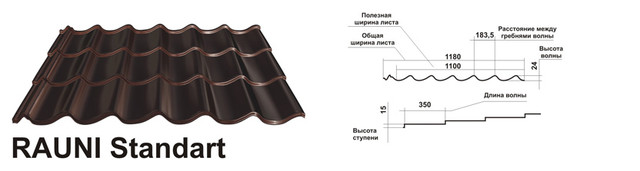 Металлочерепица 0,45 мм