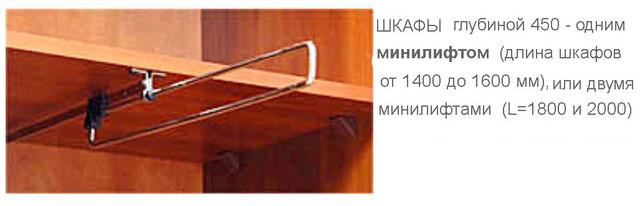 Шкаф-купе Стандар Минилифт
