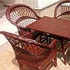 Мебель из лозы цвет темный