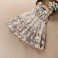 Детское платье в цветочек, фото 1