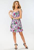 Летнее платье розы на фиолетовом, фото 1