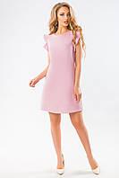 Розовое платье с воланами по пройме, фото 1