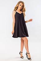 Черное платье с бантом на спине