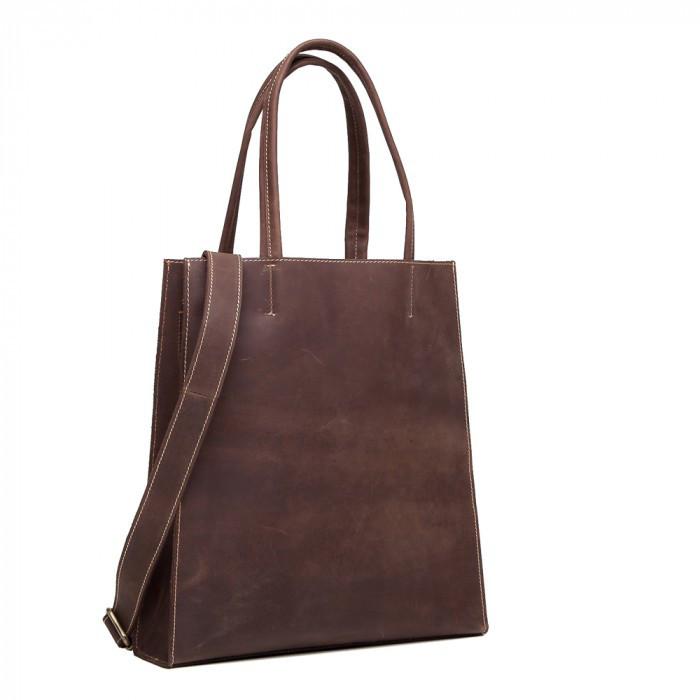 3d0971c80659 Модная стильная женская коричневая сумка шоппер винтаж натуральная кожа  handmade, ...
