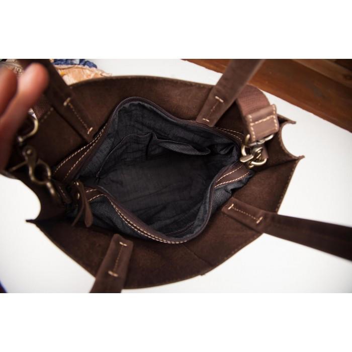 930335735c8f ... Модная стильная женская коричневая сумка шоппер винтаж натуральная кожа  handmade, фото 5