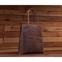 3fd1a726a0e4 Модная стильная женская коричневая сумка шоппер винтаж натуральная кожа  handmade, фото 1